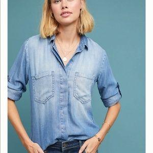 NWOT Cloth & Stone Split Back Button Down Shirt